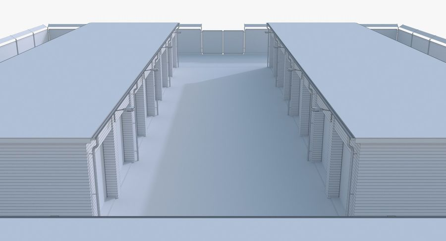 Storage Facility 3 royalty-free 3d model - Preview no. 17