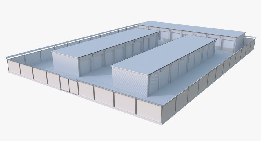 Storage Facility 3 royalty-free 3d model - Preview no. 16