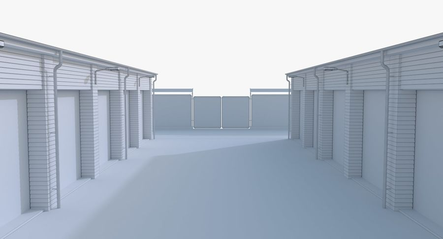 Storage Facility 3 royalty-free 3d model - Preview no. 23