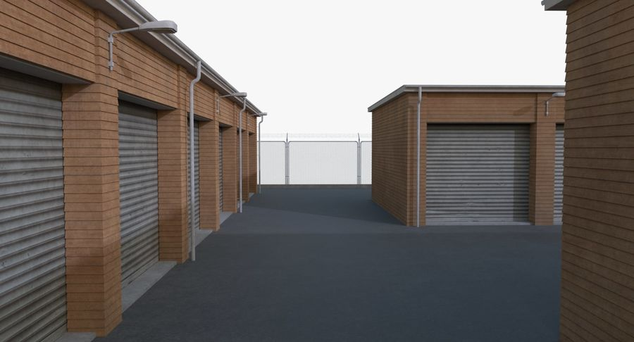 Storage Facility 3 royalty-free 3d model - Preview no. 10