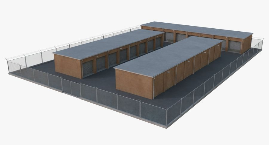Storage Facility 3 royalty-free 3d model - Preview no. 6