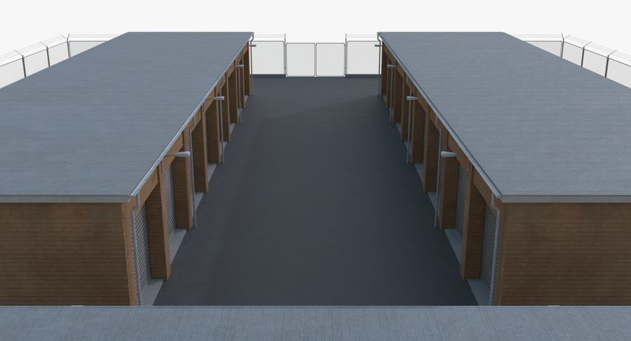 Storage Facility 3 royalty-free 3d model - Preview no. 7