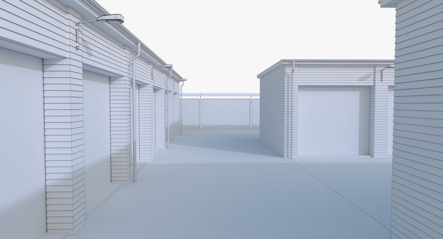 Storage Facility 3 royalty-free 3d model - Preview no. 20