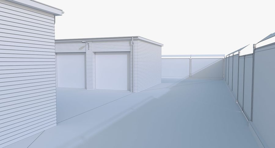 Storage Facility 3 royalty-free 3d model - Preview no. 18