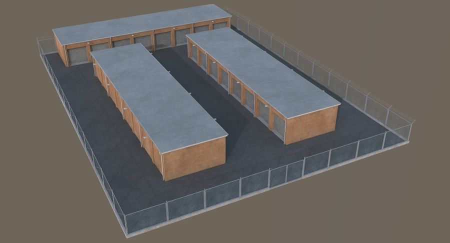 Storage Facility 3 royalty-free 3d model - Preview no. 3