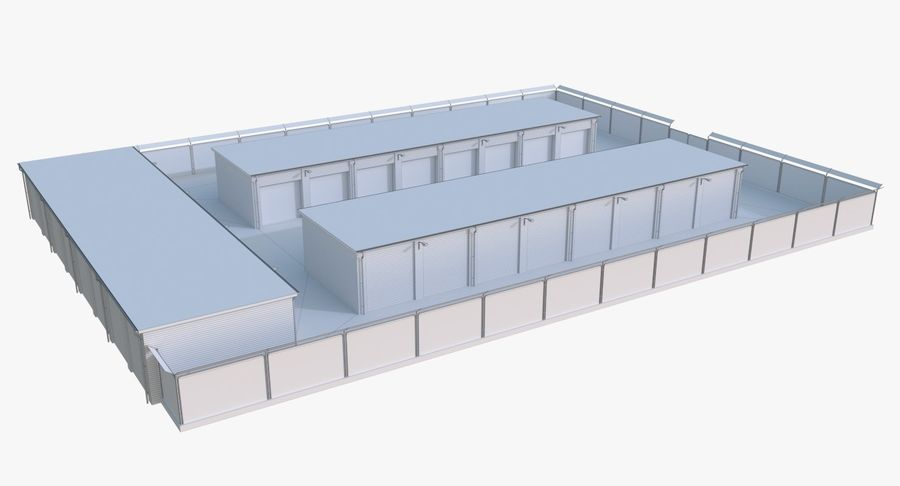 Storage Facility 3 royalty-free 3d model - Preview no. 14