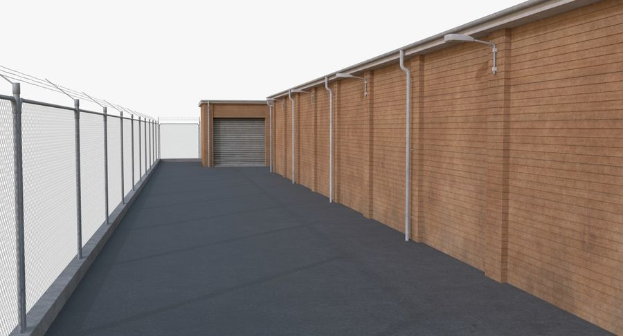 Storage Facility 3 royalty-free 3d model - Preview no. 11
