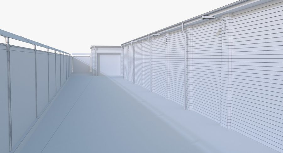 Storage Facility 3 royalty-free 3d model - Preview no. 21
