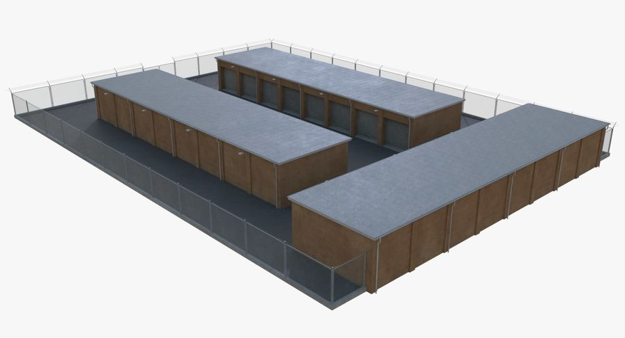 Storage Facility 3 royalty-free 3d model - Preview no. 5
