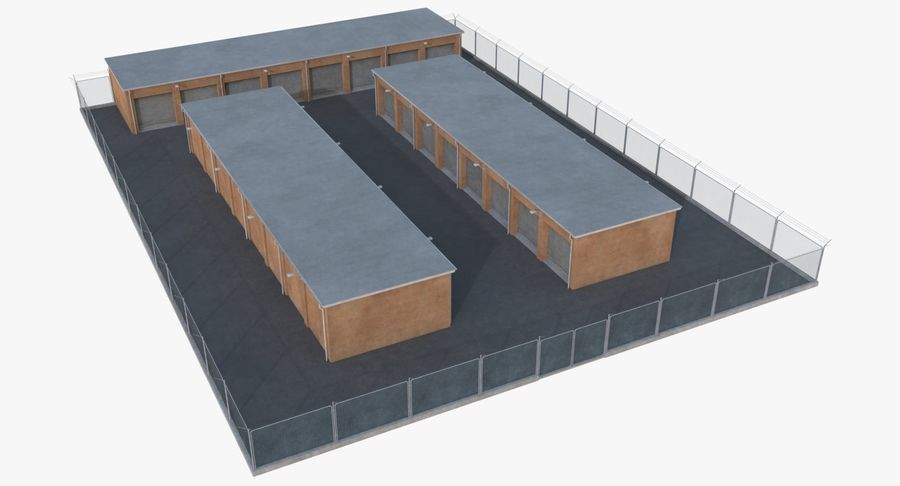 Storage Facility 3 royalty-free 3d model - Preview no. 2