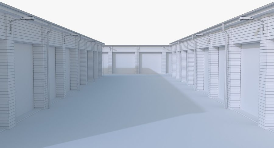 Storage Facility 3 royalty-free 3d model - Preview no. 19