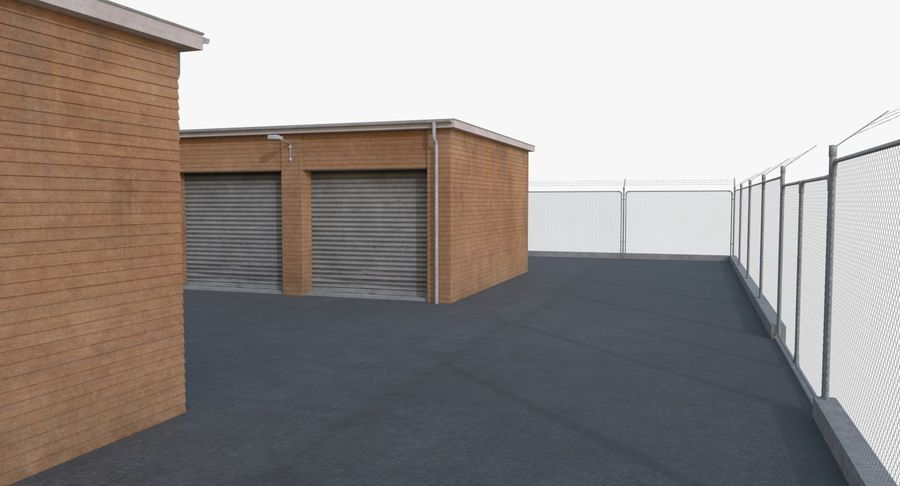 Storage Facility 3 royalty-free 3d model - Preview no. 8