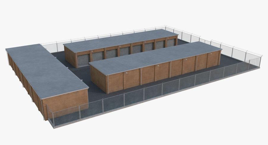 Storage Facility 3 royalty-free 3d model - Preview no. 4