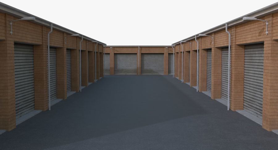 Storage Facility 3 royalty-free 3d model - Preview no. 9