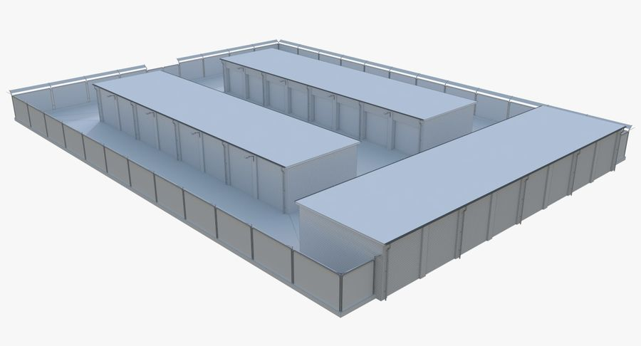 Storage Facility 3 royalty-free 3d model - Preview no. 15
