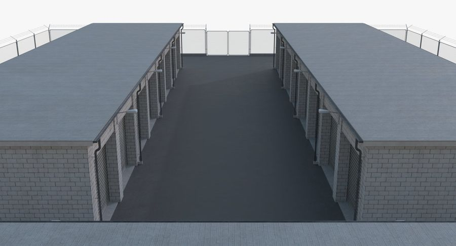 Storage Facility 2 royalty-free 3d model - Preview no. 7