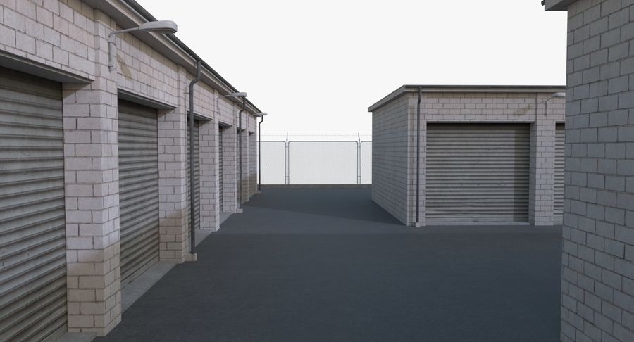 Storage Facility 2 royalty-free 3d model - Preview no. 10