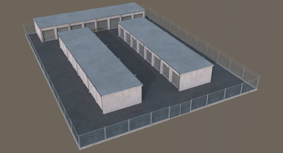 Storage Facility 2 royalty-free 3d model - Preview no. 3