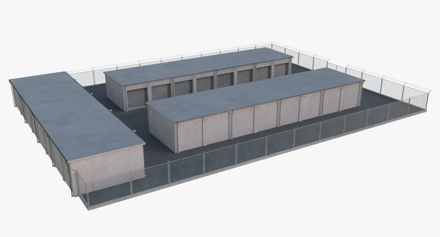 Storage Facility 2 royalty-free 3d model - Preview no. 4