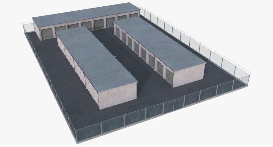 Storage Facility 2 royalty-free 3d model - Preview no. 2