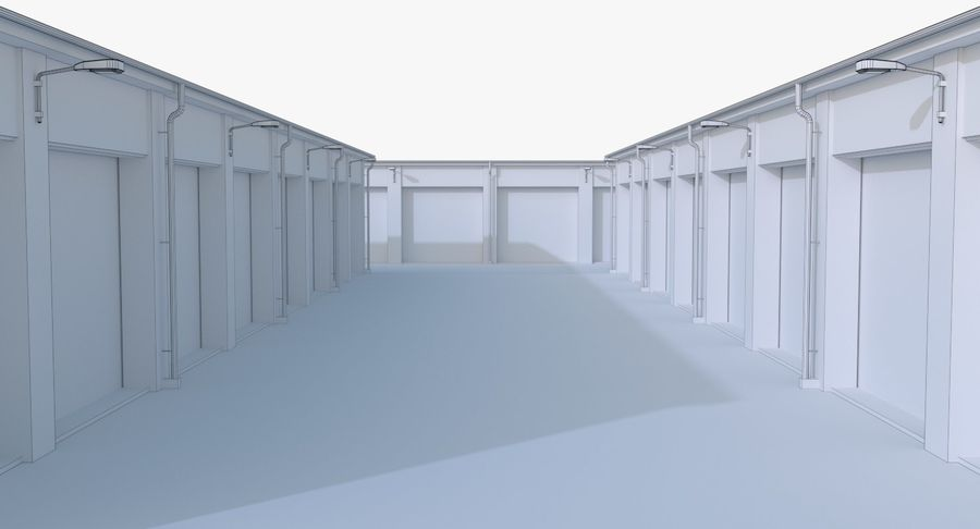 Storage Facility 2 royalty-free 3d model - Preview no. 19
