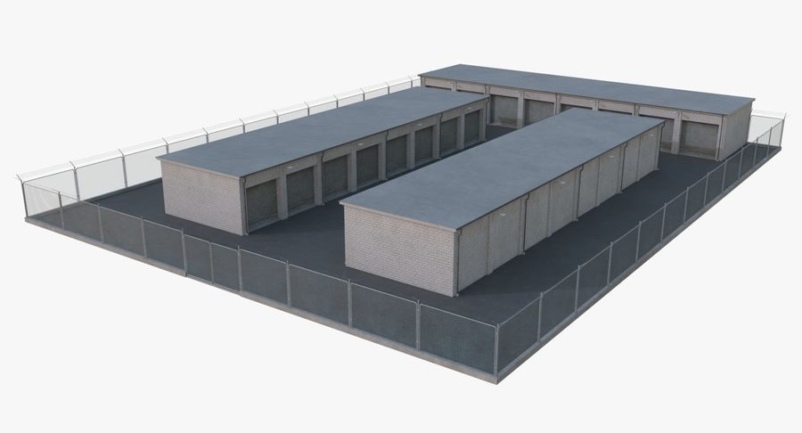 Storage Facility 2 royalty-free 3d model - Preview no. 6