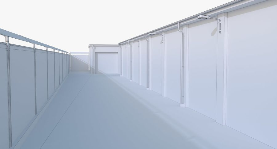 Storage Facility 2 royalty-free 3d model - Preview no. 21
