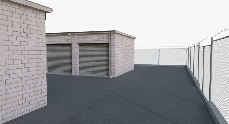 Storage Facility 2 royalty-free 3d model - Preview no. 8