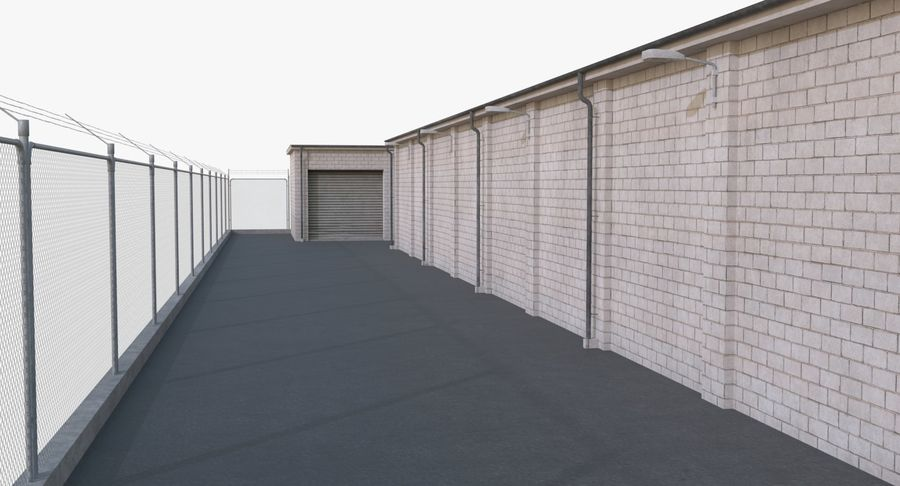 Storage Facility 2 royalty-free 3d model - Preview no. 11