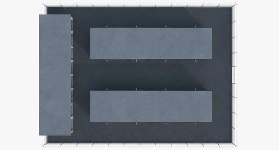 Storage Facility 2 royalty-free 3d model - Preview no. 12