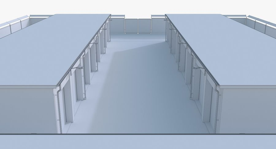 Storage Facility 2 royalty-free 3d model - Preview no. 17