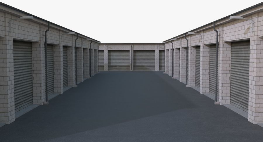 Storage Facility 2 royalty-free 3d model - Preview no. 9