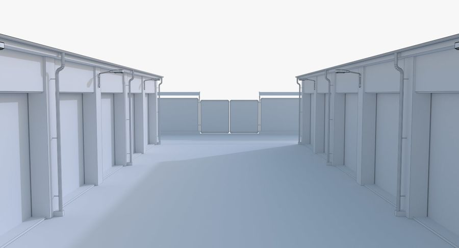 Storage Facility 2 royalty-free 3d model - Preview no. 23