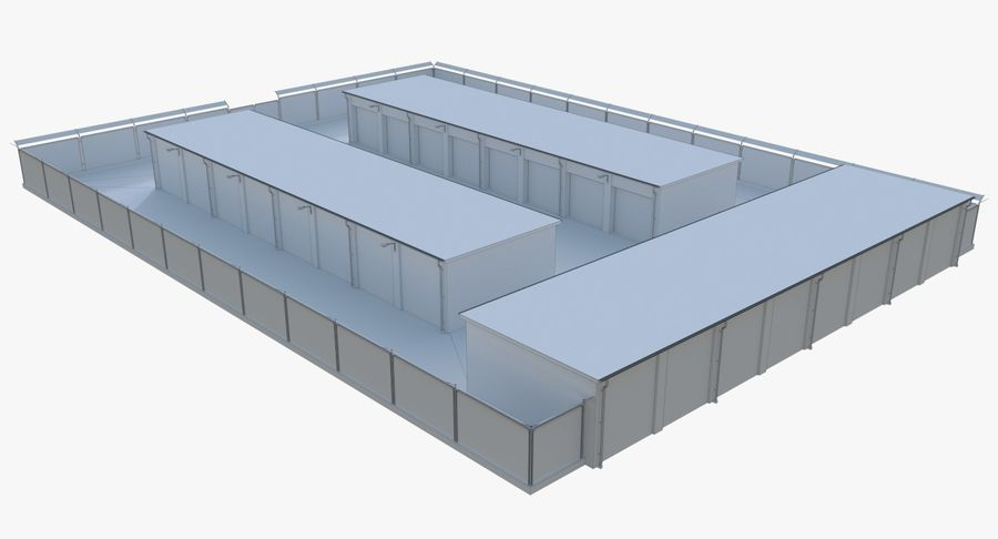 Storage Facility 2 royalty-free 3d model - Preview no. 15