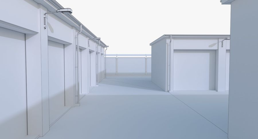 Storage Facility 2 royalty-free 3d model - Preview no. 20