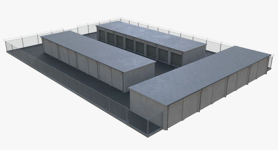 Storage Facility 2 royalty-free 3d model - Preview no. 5