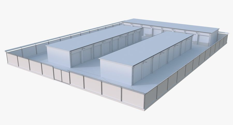 Storage Facility 2 royalty-free 3d model - Preview no. 16