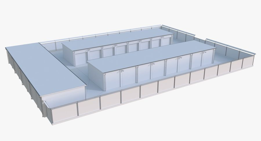 Storage Facility 2 royalty-free 3d model - Preview no. 14