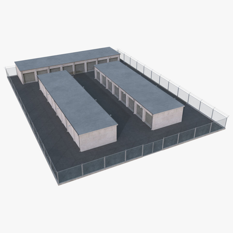 Storage Facility 2 royalty-free 3d model - Preview no. 1