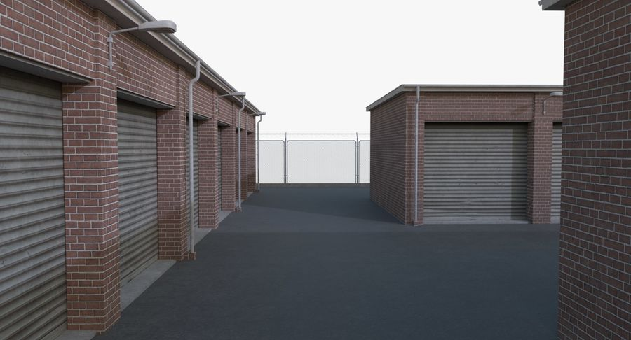 Storage Facility 1 royalty-free 3d model - Preview no. 10