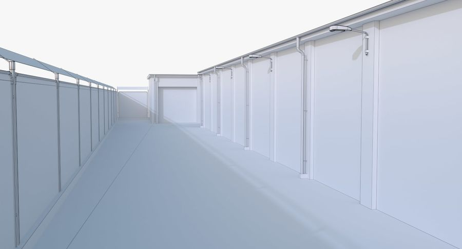 Storage Facility 1 royalty-free 3d model - Preview no. 21