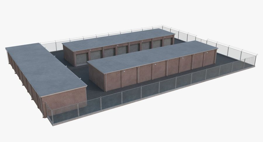 Storage Facility 1 royalty-free 3d model - Preview no. 4