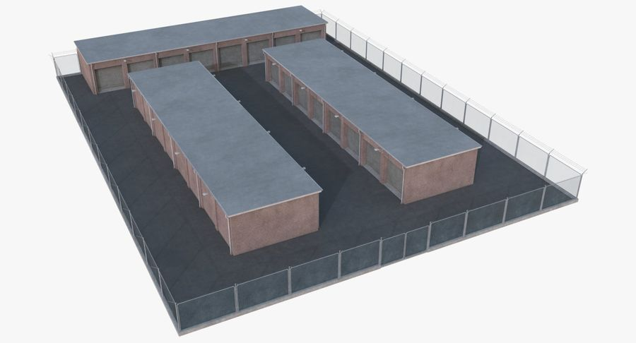 Storage Facility 1 royalty-free 3d model - Preview no. 2