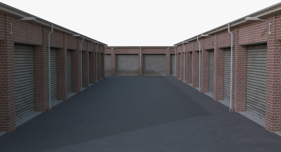 Storage Facility 1 royalty-free 3d model - Preview no. 9