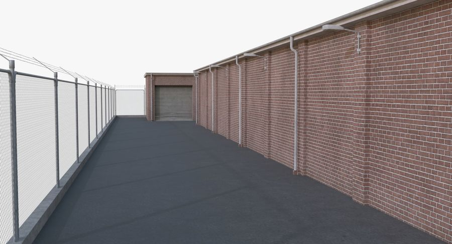 Storage Facility 1 royalty-free 3d model - Preview no. 11