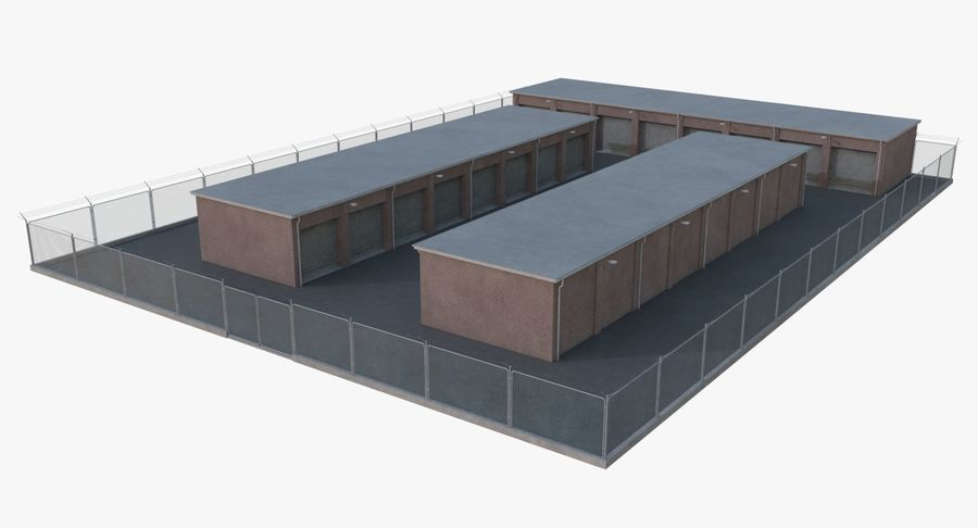 Storage Facility 1 royalty-free 3d model - Preview no. 6