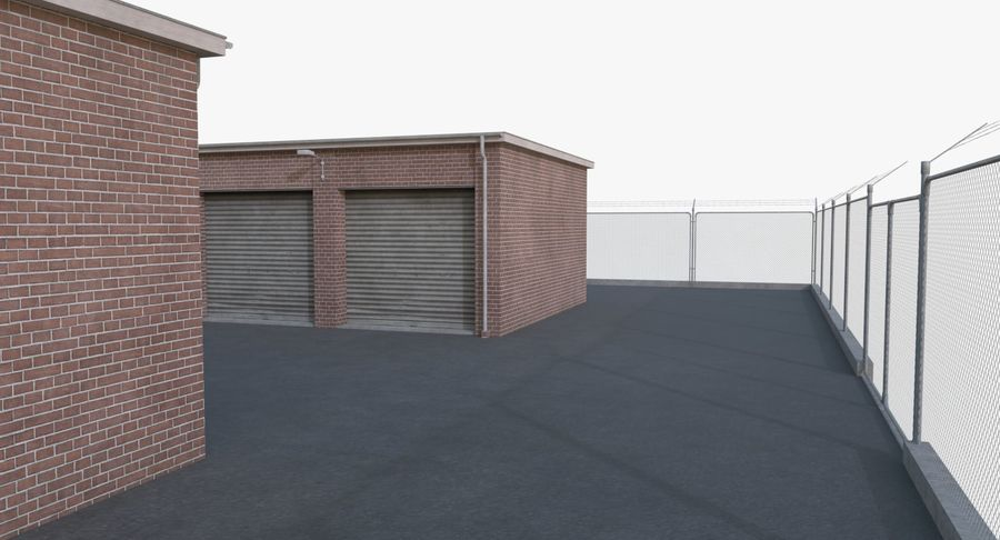Storage Facility 1 royalty-free 3d model - Preview no. 8