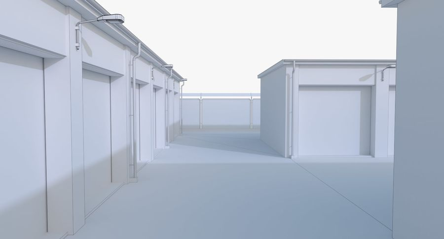 Storage Facility 1 royalty-free 3d model - Preview no. 20