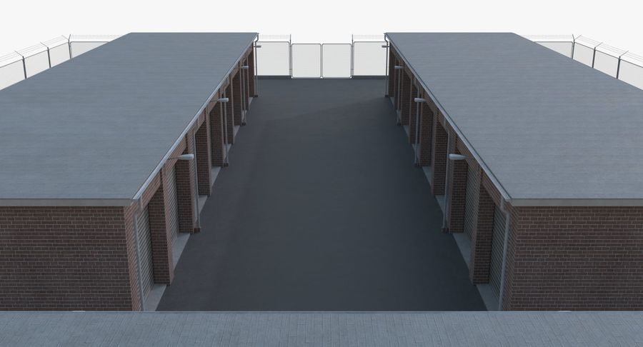 Storage Facility 1 royalty-free 3d model - Preview no. 7