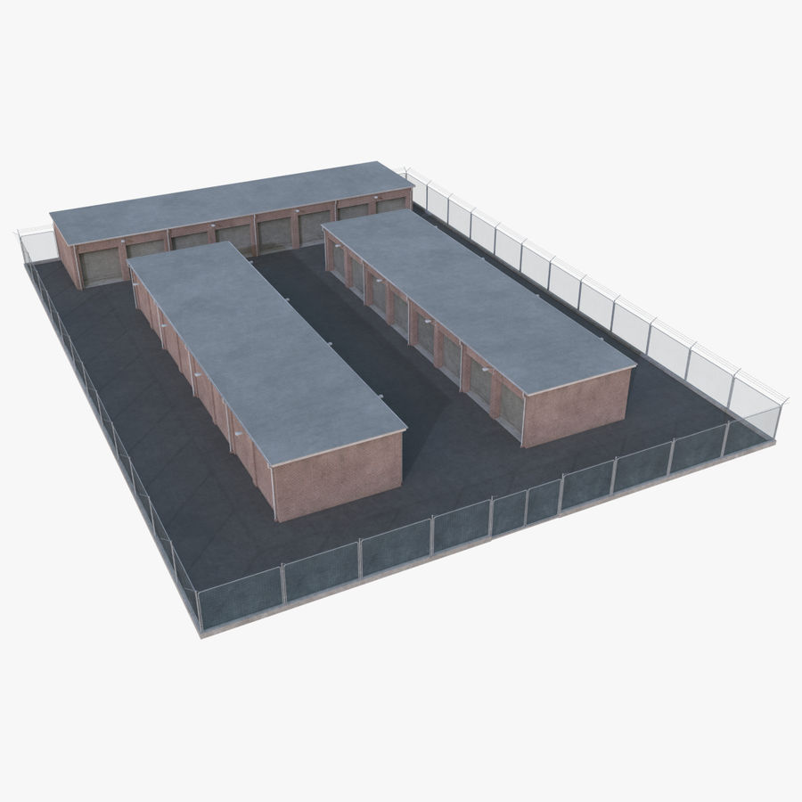 Storage Facility 1 royalty-free 3d model - Preview no. 1